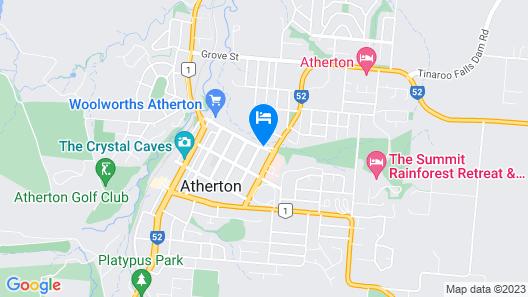 Atherton Hinterland Motel Map