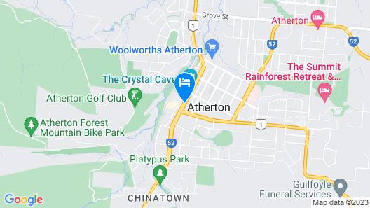 Atherton Hotel Map