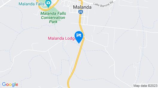 Malanda Lodge Motel Map