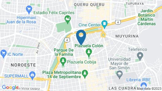 El Prado Hotel Map