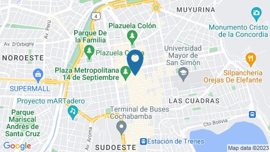 Cesars Plaza Hotel Map