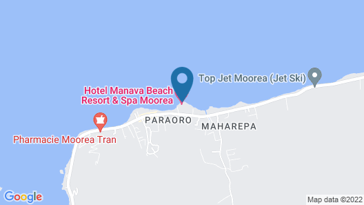 Manava Beach Resort and Spa Moorea Map