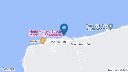 Manava Beach Resort & Spa Moorea Map