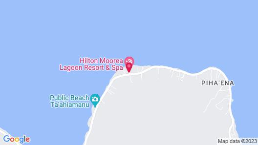 Hilton Moorea Lagoon Resort & Spa Map