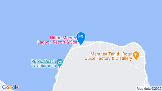 Hilton Moorea Lagoon Resort and Spa Map