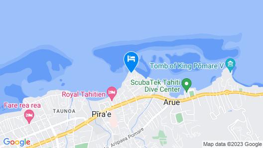 Hotel Royal Tahitien Map