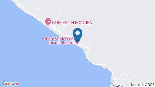 Linareva Moorea Beach Resort Map