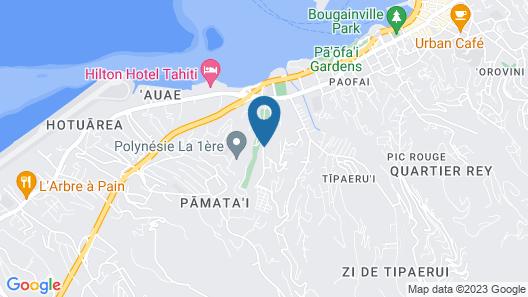 Studio Vaiana - Tahiti Map