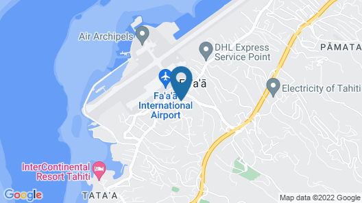 Tahiti Airport Motel Map