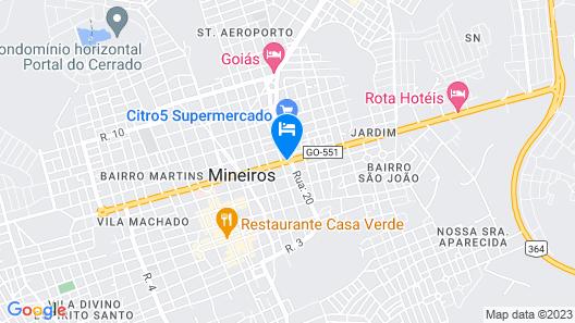Rota Hotéis Mineiros Map