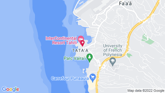 InterContinental Resort Tahiti Map