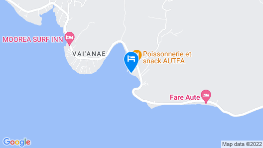 Villa Moana - Moorea Map