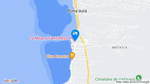 Manava Suite Resort Tahiti Map