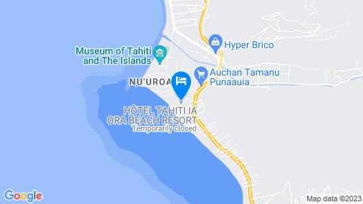 Tahiti Ia Ora Beach Resort - Managed by Sofitel Map