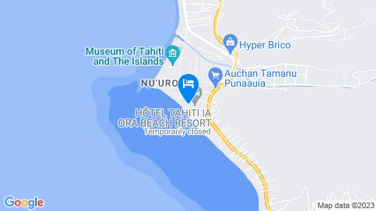 Le Meridien Tahiti Map