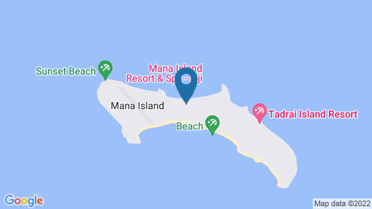 Mana Island Resort & Spa Map