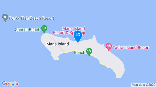 Mana Island Resort & Spa Map