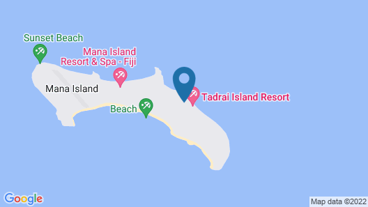 Tadrai Island Resort-Fiji - All Inclusive Map