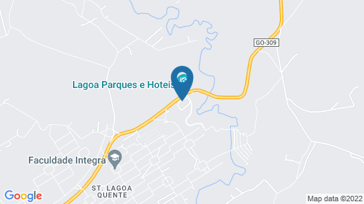 Via Caldas - Lagoa Quente Flat Hotel Map