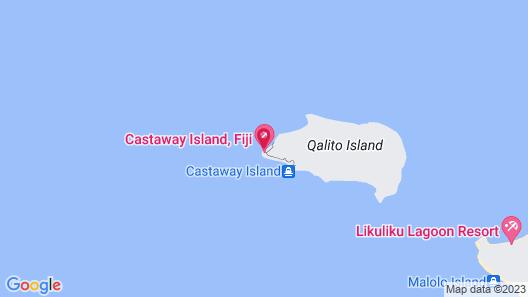 Castaway Island Fiji Map