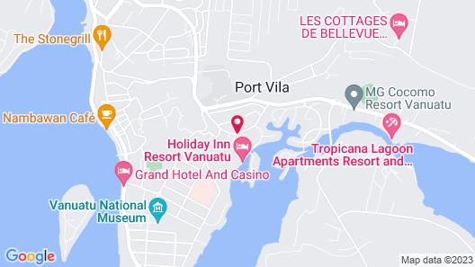 Holiday Inn Resort Vanuatu Map