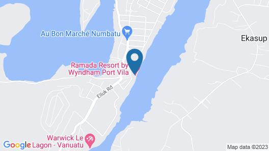 Ramada Resort Port Vila Map