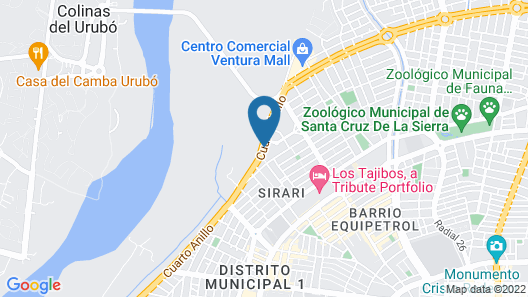 Marriott Santa Cruz de la Sierra Hotel Map