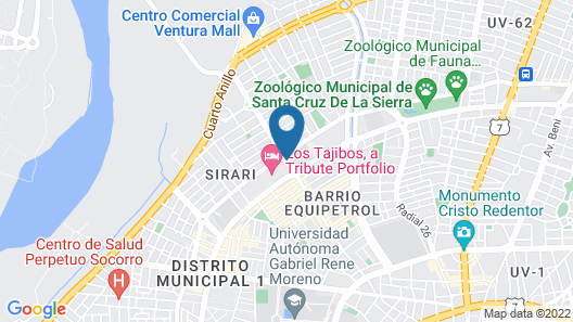 Los Tajibos Hotel And Convention Center Map