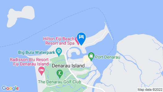 Hilton Fiji Beach Resort and Spa Map