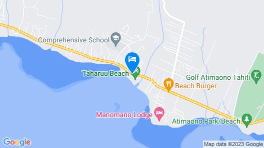 Tahiti - Fare Teava Beach Map