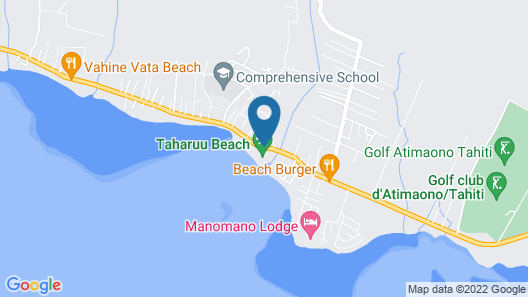 Tahiti - Taharuu Houses Surf & Beach Map