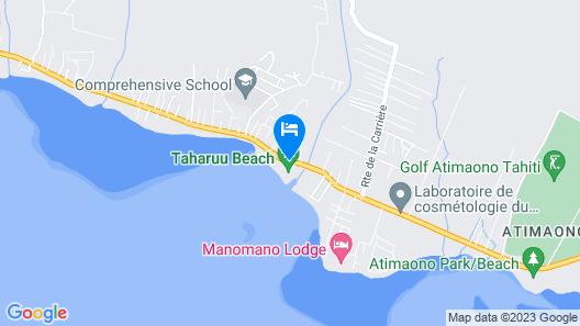 Tahiti - Taharuu Houses Surf & Beach Map