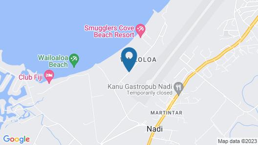 Wailoaloa Beach Resort Fiji Map
