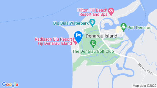 Radisson Blu Resort Fiji Denarau Island Map