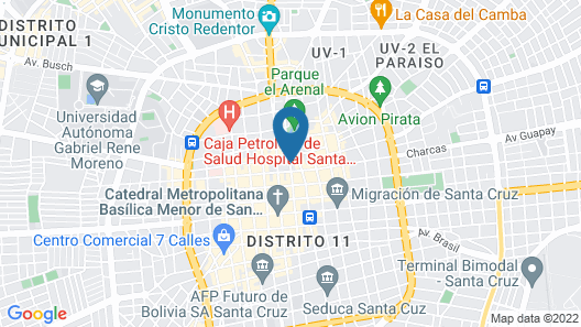 Hotel Arenal Map