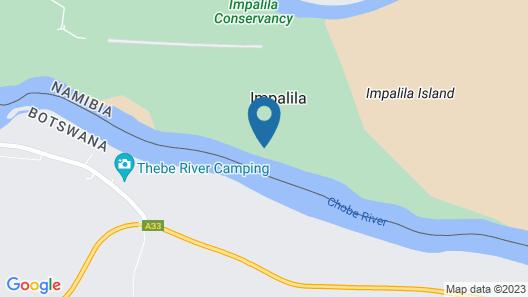 Ichingo Chobe River Lodge Map