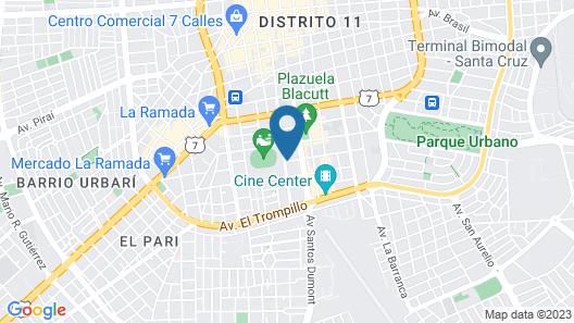 Hotel LP Santa Cruz Centro Map