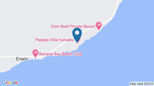 Papaya Villa Vanuatu Map