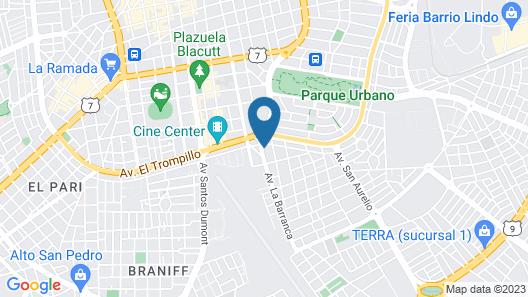 Aviador Hotel Boutique Map
