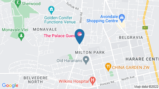 The Palace Guest House Map