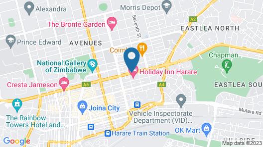 Holiday Inn Harare Map