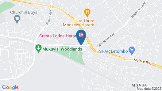Cresta Lodge - Harare Map