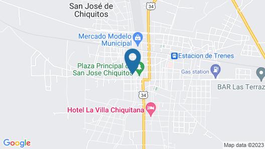 Hotel Misiones de Chiquitos Map