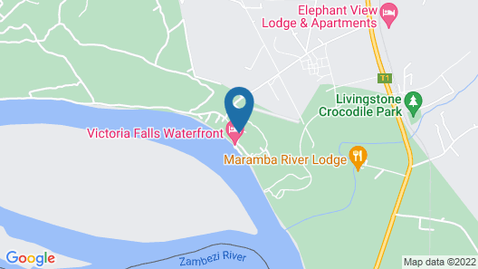 Victoria Falls Waterfront Map