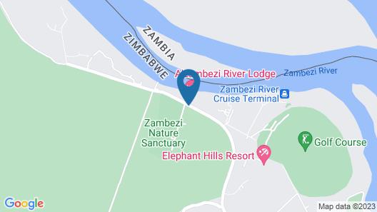 A'Zambezi River Lodge Map