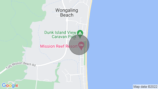 Mission Beach Hideaway Cottage Map