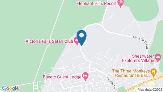 Victoria Falls Safari Suites Map