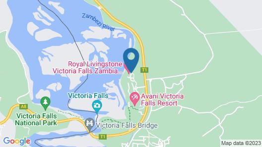 Royal Livingstone Victoria Falls Zambia Hotel by Anantara Map
