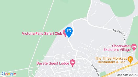 Victoria Falls Safari Lodge Map