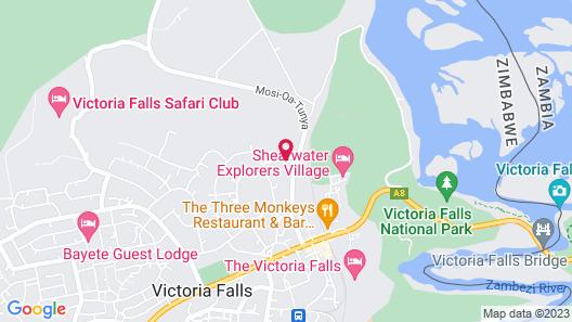 Victoria Falls Rainbow Hotel Map